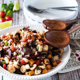 Roasted Sweet Potato and Giant Corn Peruvian Salad (Solterito) Recipe