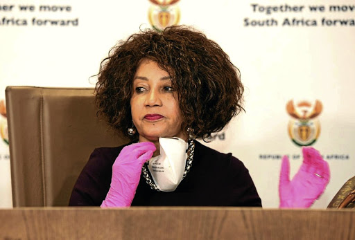Minister of human settlements, water and sanitation Lindiwe Sisulu.