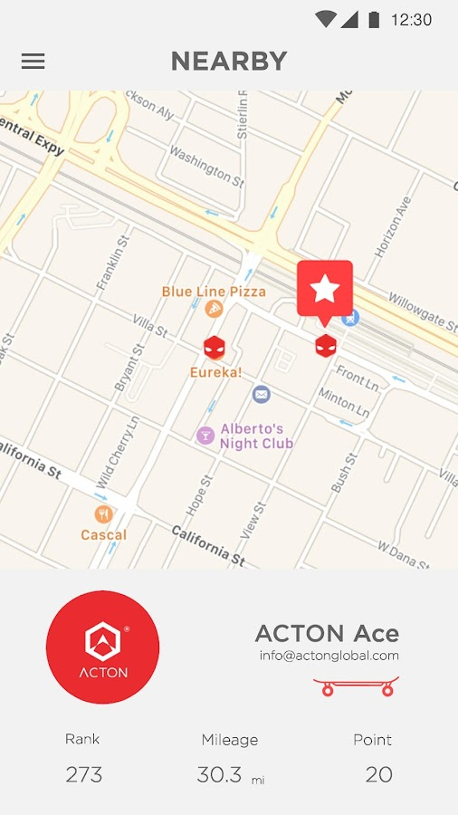 ACTON App- screenshot