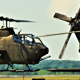 Make room by Benito Flores Jr - Transportation Helicopters ( army, cobra, air show, pilot, ah-1, hovering, military, texas )
