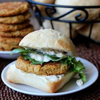 Baked Falafel Sandwich.
