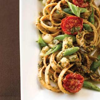 Rustic Genovese Basil Pesto Pasta.
