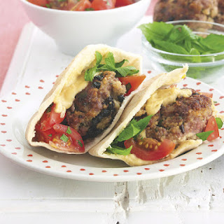 Lamb and Couscous Croquettes in Pita Bread
