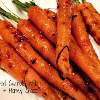 Charred Baby Carrots with Honey Glaze.