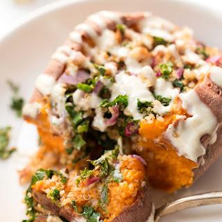 Quinoa Stuffed Sweet Potatoes.