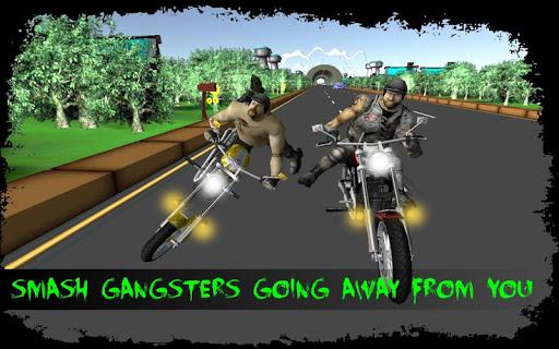 バイクライダー攻撃:スタント人種