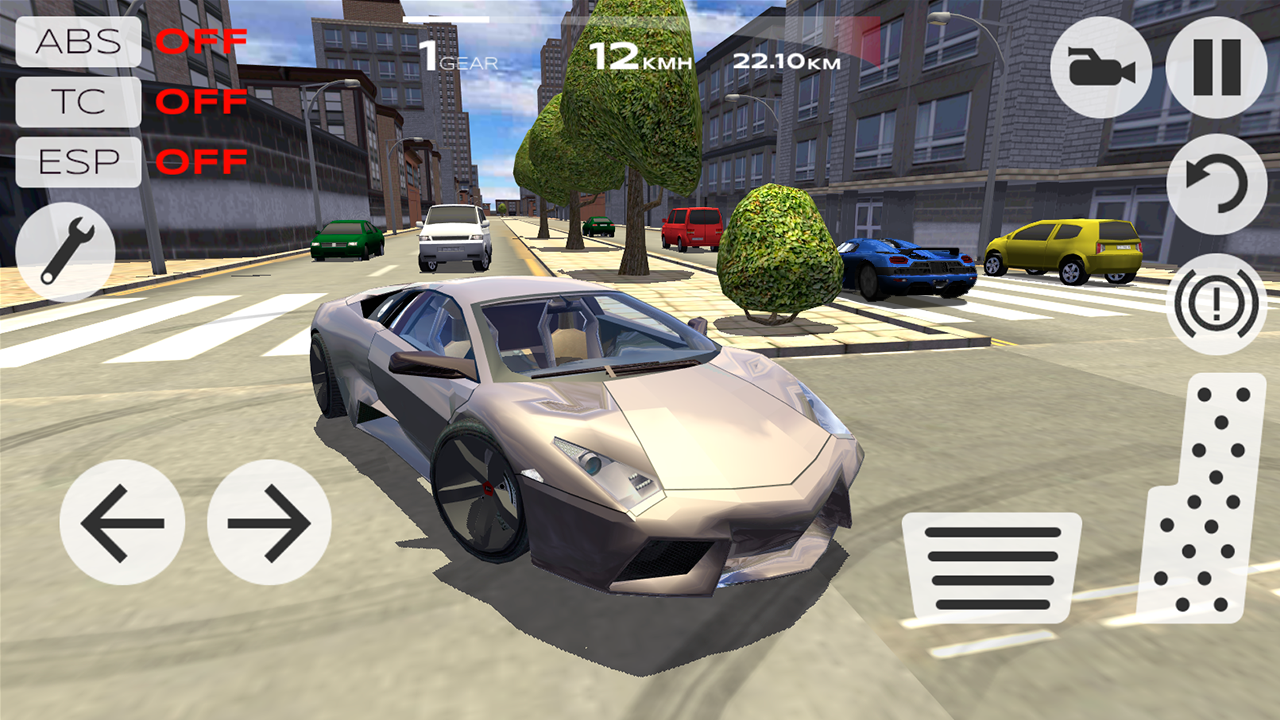 Super car city driving sim free games free online - Extreme Car Driving Simulator Screenshot