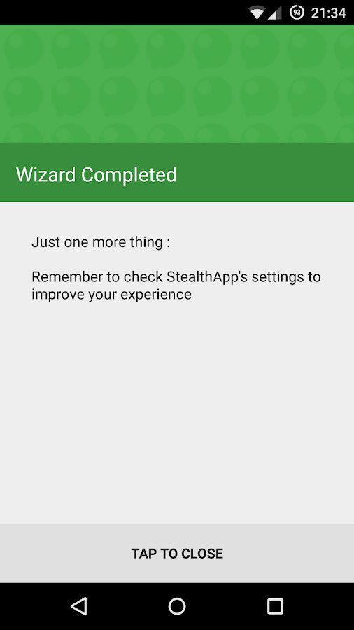 StealthApp No doble check azul: captura de pantalla