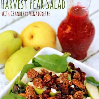 Harvest Pear Salad with Cranberry Vinaigrette Dressing Recipe