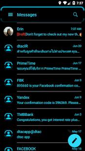 Neon Blue SMS Zprávy - náhled
