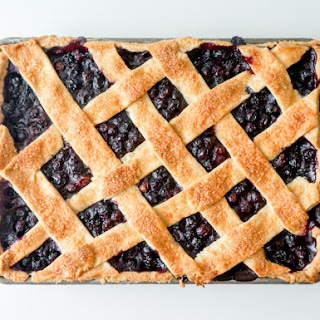 Blueberry Slab Pie with Cornmeal Crust