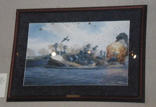 Photo: painting of the attack on the USS Oklahoma