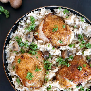 One-pot Wonder Chicken With Mushroom Rice.