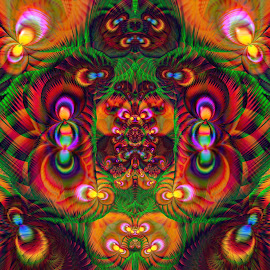 Jungle of toughts by Cassy 67 - Illustration Abstract & Patterns ( digital, modern art, love, harmony, art, abstract art, trippy, abstract, artwork, fractals, digital art, psychedelic, modern, light, fractal, psychedelic art, energy )