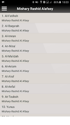 Audio Quran Mishary Alafasy