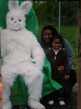 Photo: we took our picture w/ the Easter Bunny