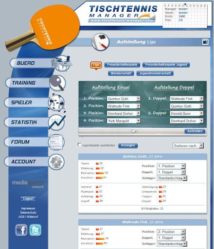 Tischtennis Manager 1.2.0 screenshots 8