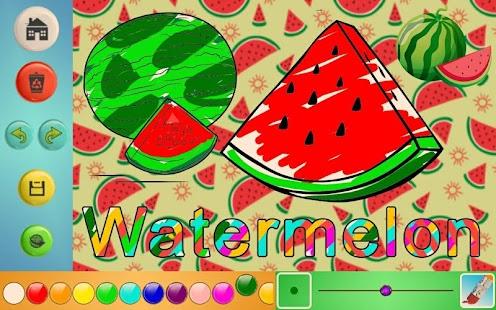 Learn & Draw Fruit Names Screenshot