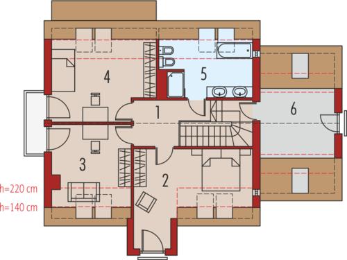 E5 G1 ECONOMIC wersja B - Rzut poddasza