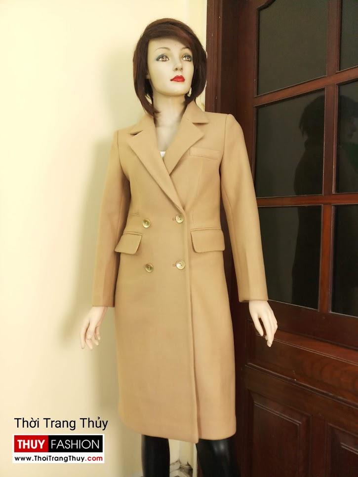 Áo khoác dạ nữ dáng dài màu lạc đà V665 tại hồ chí minh