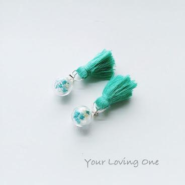 綠色流蘇耳環