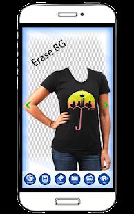 Woman T Shirt Photo Montage : Women Tshirt Designs - náhled