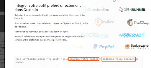 Insérer du code HTML dans un site web