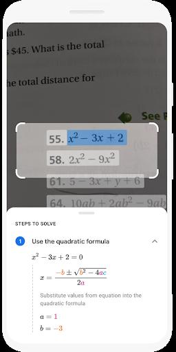GoogleLens te ayuda paso a paso con los deberes