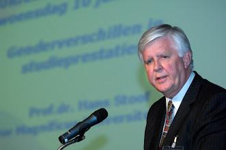 Photo: Prof. dr. H. Stoof, rector magnificus en lid van het College van Bestuur Universiteit Utrecht tijdens de uitreiking van de Galenus Researchprijs 2009 in Leidenfoto © Bart Versteeg