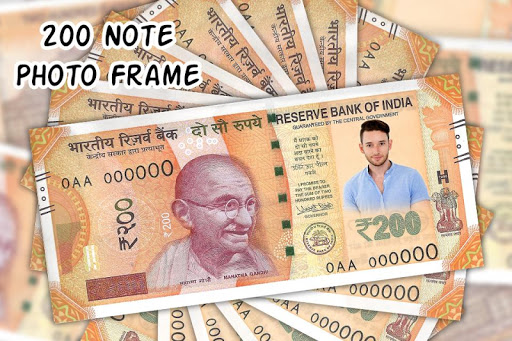 200 Note Photo Frame:New Currency NOTE Photo Frame screenshot 4