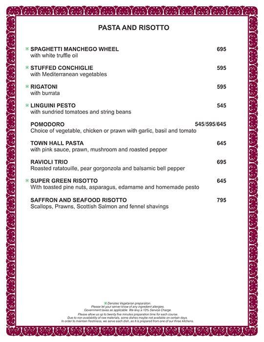 Town hall menu 12