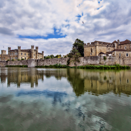 Leeds Castle UK by Gianluca Presto - Buildings & Architecture Homes ( sky, historic, castle, reflection, reflections, united kingdom, history, water, home, water reflection, cloudy, hdr, leeds, lake, architecture )