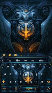 Aries dark goddess keyboard angel theme - náhled