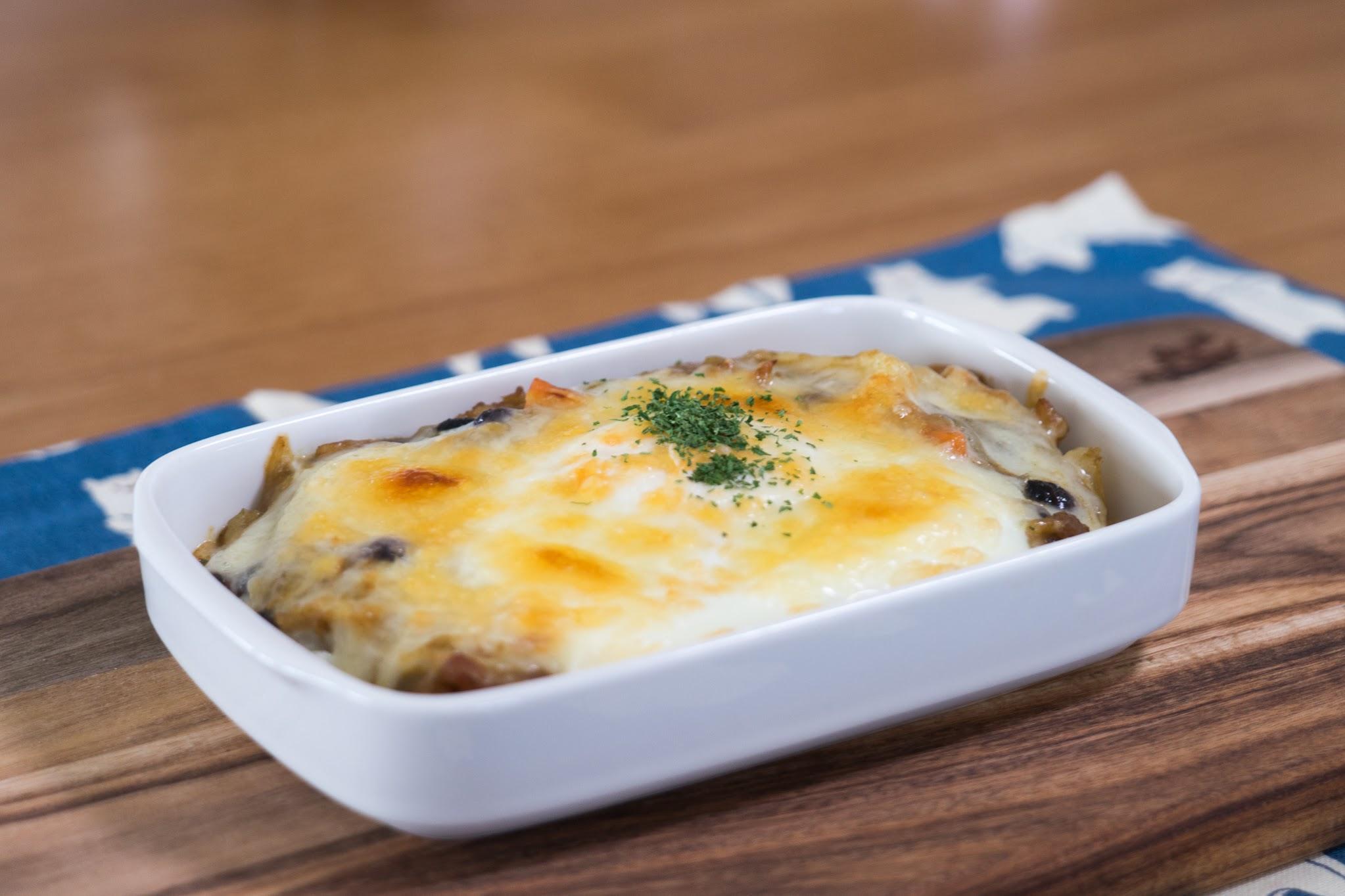 黒千石レシピ:No.14 黒千石大豆入り焼きチーズカレー