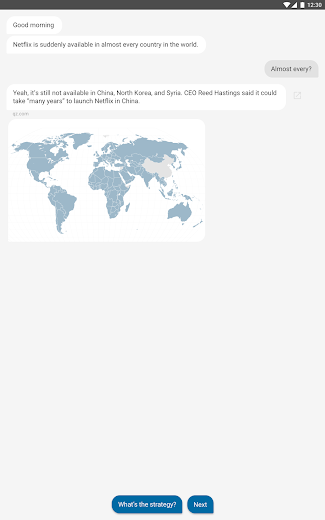Screenshot 3 for Quartz's Android app'