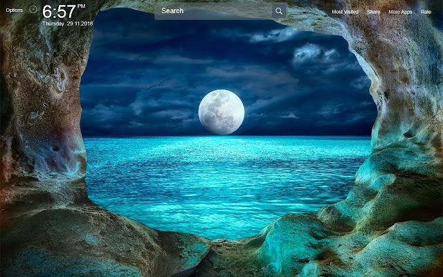 Moon Wallpapers Theme New Tab