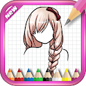 How To Draw Hair Style icon