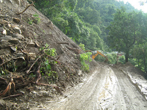 Photo: road closed due to landslide