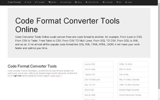 Code format converter online