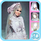 White Wedding Dress Hijab