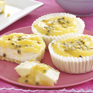 Lemon Curd and Coconut Cheesecakes.