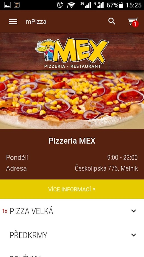 Pizzerie MEX Mělník- screenshot