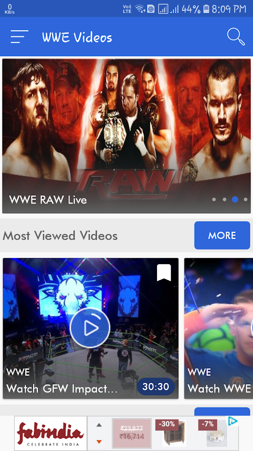 WWE Videos- screenshot