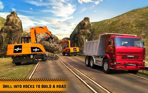 Hill Road Construction Games: Dumper Truck Driving apkpoly screenshots 10