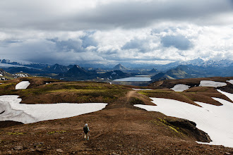 Photo: Dark palagonite mountains framing Álftavatn (lake in the back)
