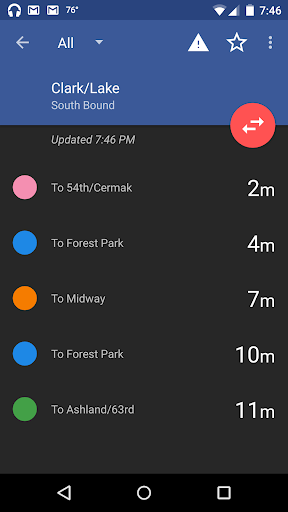 Transit Tracks: Chicago CTA screenshot