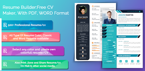 Resume Builder Free Cv Maker With Pdf Word Format Apps On Google Play
