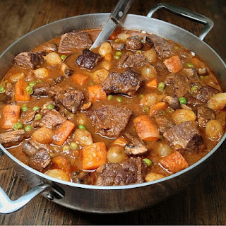 Beef Stew (Bourguignon) with Lots of Vegetables - Low Carb, Gluten Free, Dairy Free