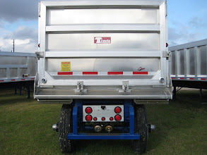 Photo: back of trailer showing drain holes