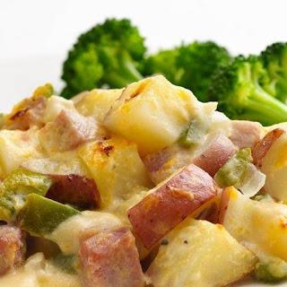 Skinny Ham and Potato Casserole Recipe